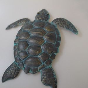 Metal Turtle Wall Hang Sea Turtle Accent Decor